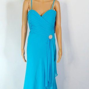 NWT Alyce  A-Line Formal Gown in Turquoise Size 10